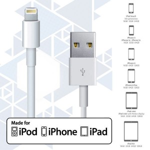 Apple lightning to USB MFI Cable