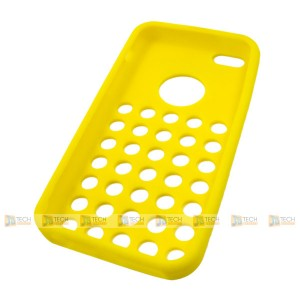 iPhone 5C Coloured Silicone Rubber Bubble Case Yellow