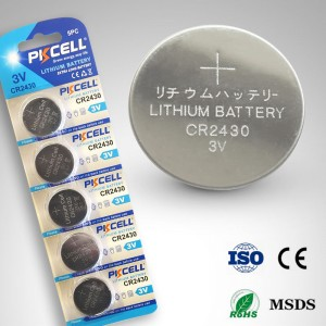Pkcell Lithium Button Cell CR2430 3.0V 5pcs Pack